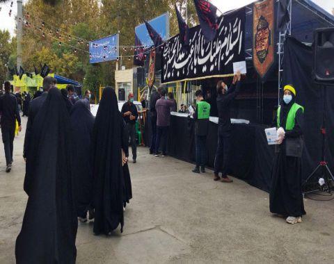 پیاده روی دانش آموزان عزیز و اولیاء محترمشان به مناسبت اربعین حسینی
